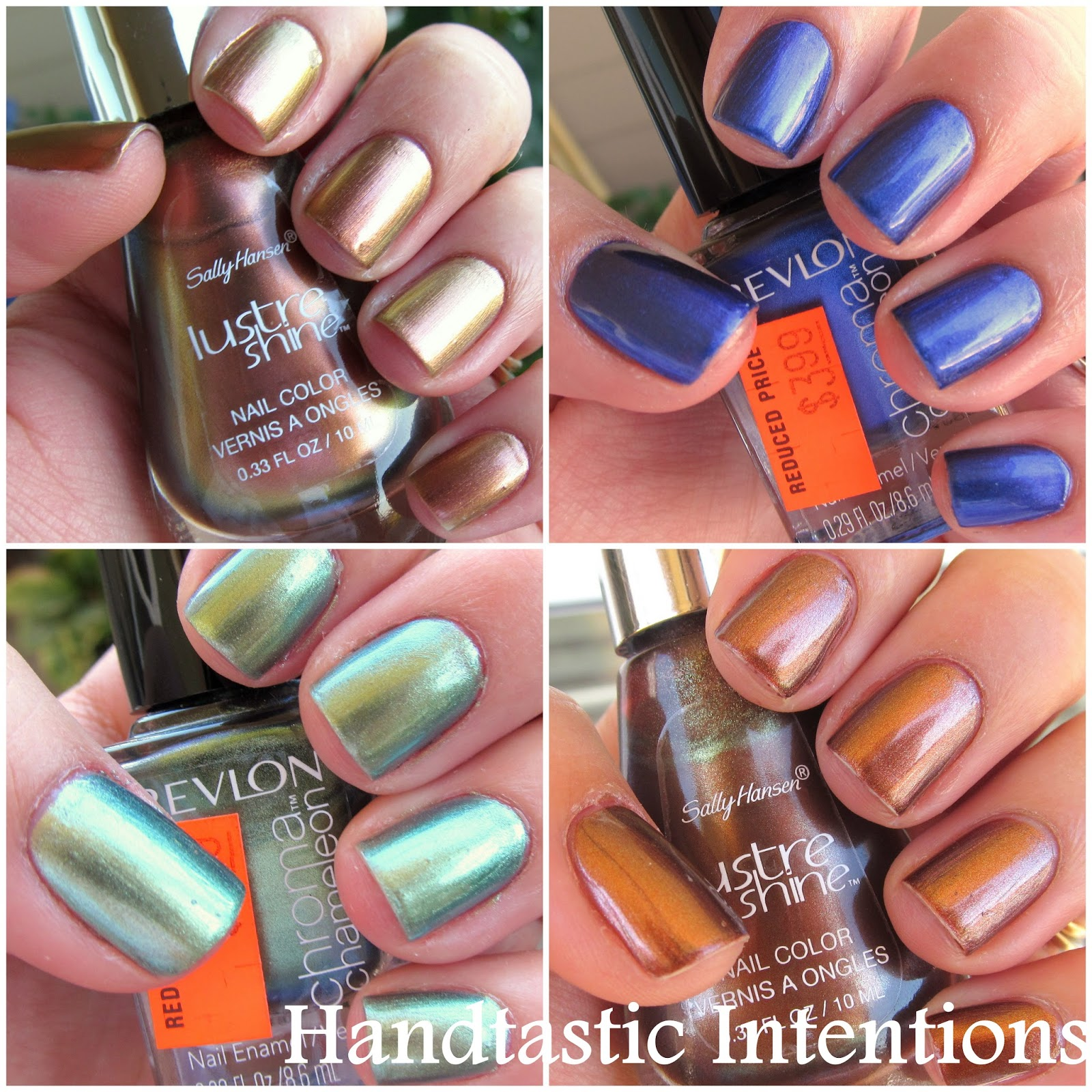 Handtastic Intentions: Battle Royale: Drugstore Duochrome Metalic ...