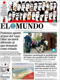 11/07/2020       ESPAÑA UNA  PRIMERA PÁGINA DE LA PRENSA
