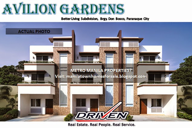 AVILION GARDENS Townhouse For Sale In BetterLiving Subdivision,Parañaque  City