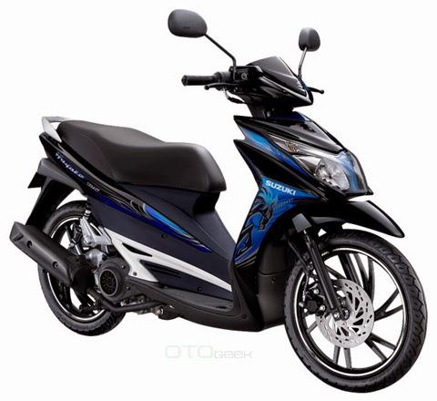 gambar motor suzuki hayate biru