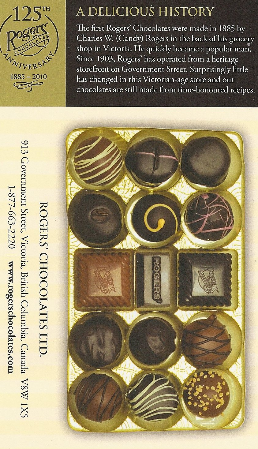 rogers chocolates 3 essay Rogers chocolates is continuing to grow their customer base by appealing to from busi 690 at liberty university duplicate essay uploaded by d4l1981 pages 21.