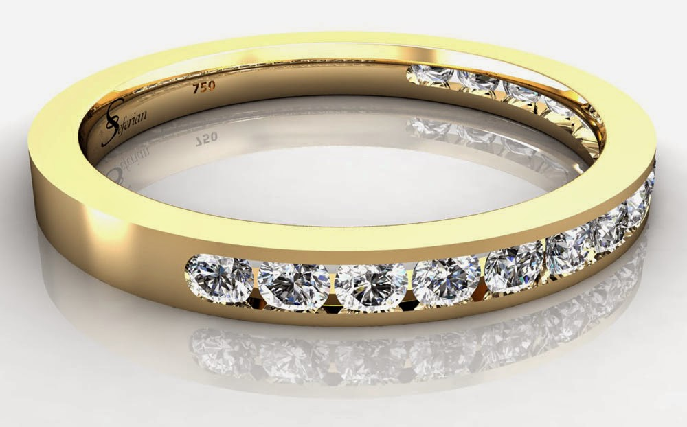 Seferian Womens Wedding Rings Yellow Gold with Diamond Design pictures hd