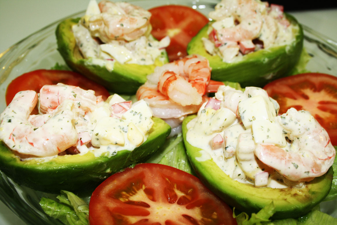 Cooking in the Desert: Shrimp Stuffed Avocado