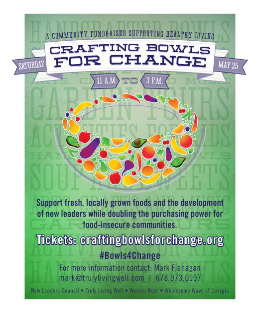 Crafting Bowls for Change at Wheat Street Garden 5/25/13 #Bowls4Change