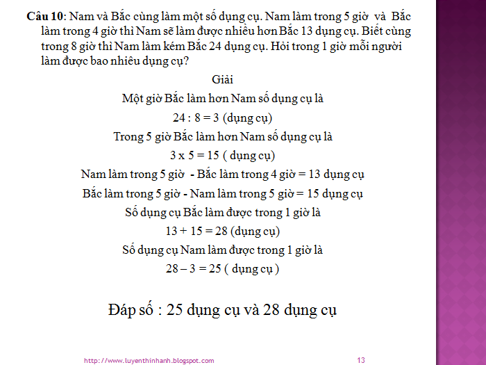 Ôn thi lên lớp 6 - Phương pháp khử