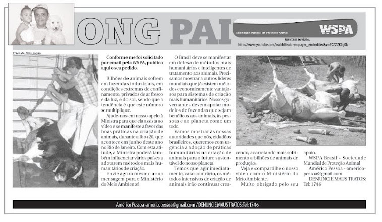 Coluna da ONG PAI no jornal POVO 07-4-2012