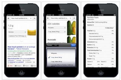 Google incluye información nutricional en las búsquedas de alimentos