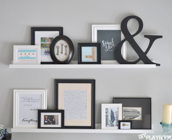 Want to know how to use picture ledges to get this adorable look?