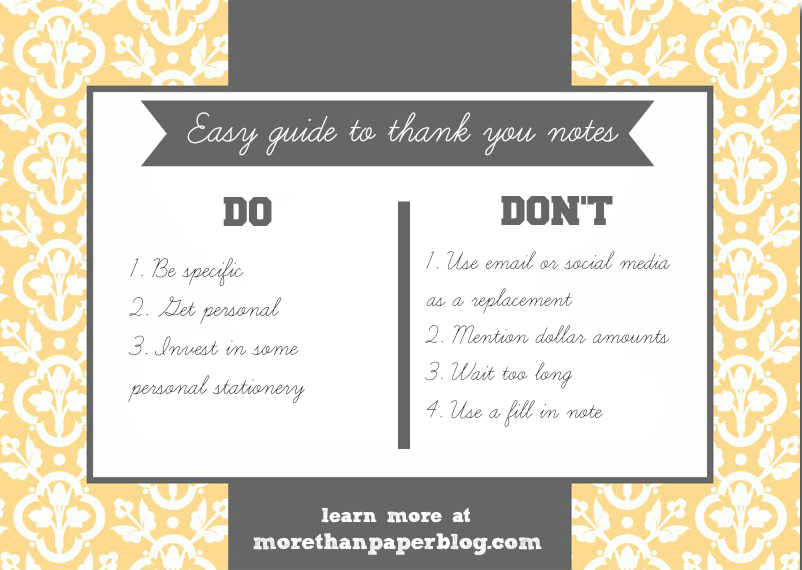 More Than Paper Blog: An easy guide to thank you notes