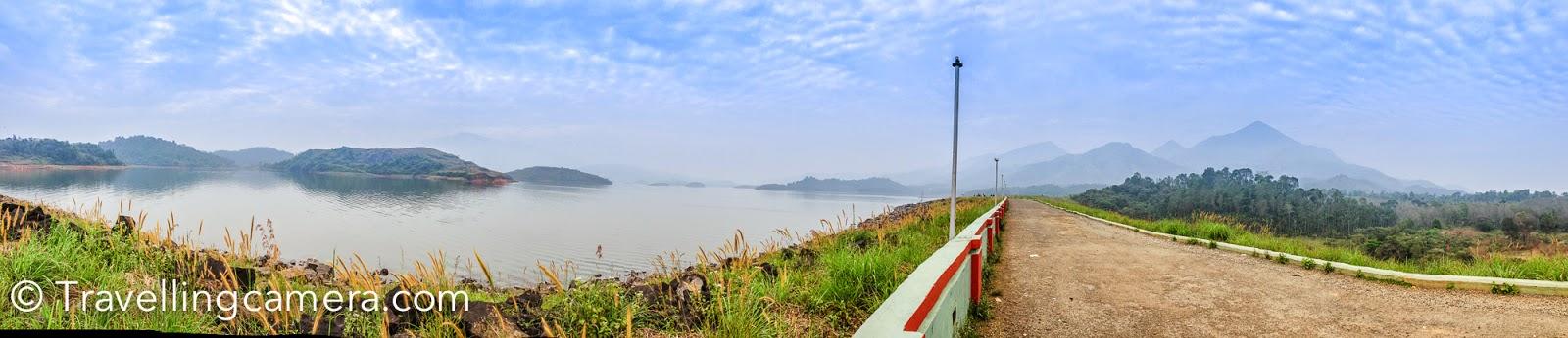 A view of Banasura sagar dam in Wayanad region of North Kerala.
