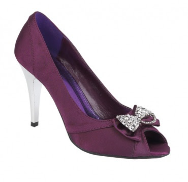 Violet purple high heels for wedding shoes