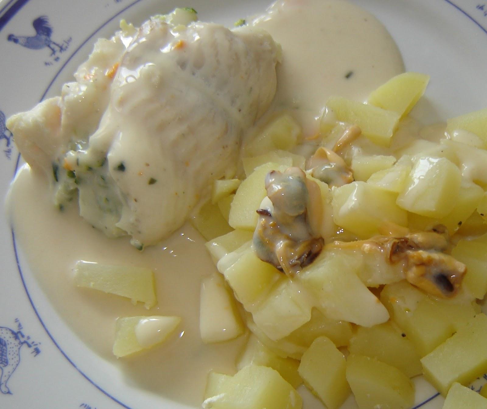 R ti de poisson pommes de terre et sauce aux moules thermomix - Mon thermomix ne pese plus ...