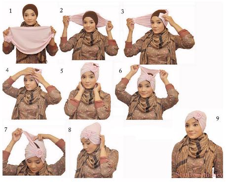 Bagaimana Cara Memakai Hijab Turban Style