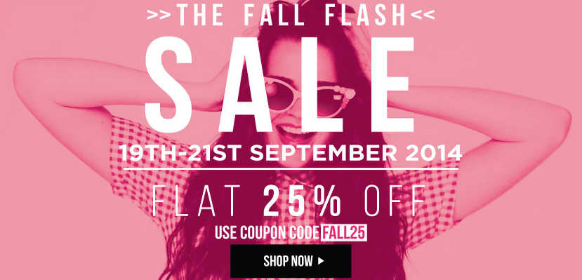 Flat 25% off on women fashion || Site wide