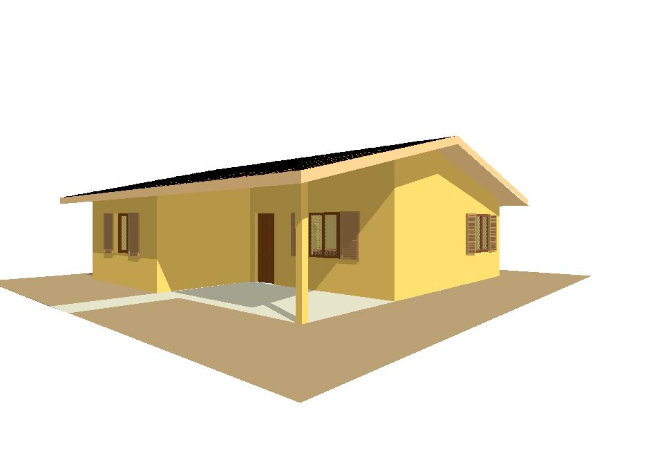 Progetti di case in legno casa 75 mq portico 17 mq - Progetto casa 80 mq ...