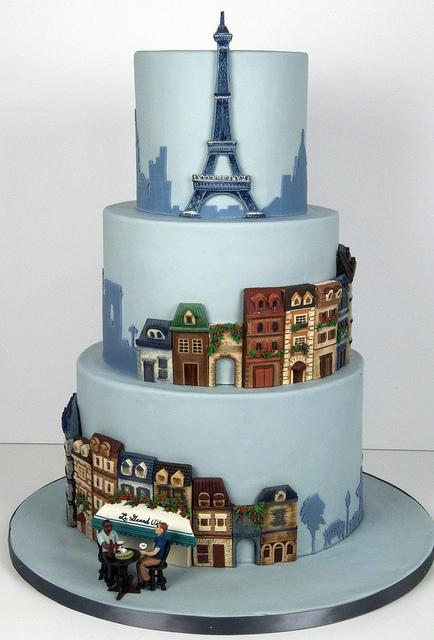 Wedding cakes pictures parisian themed wedding cake