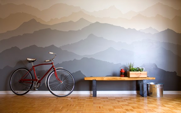 Pam lostracco mountain mirage for Diy mountain mural