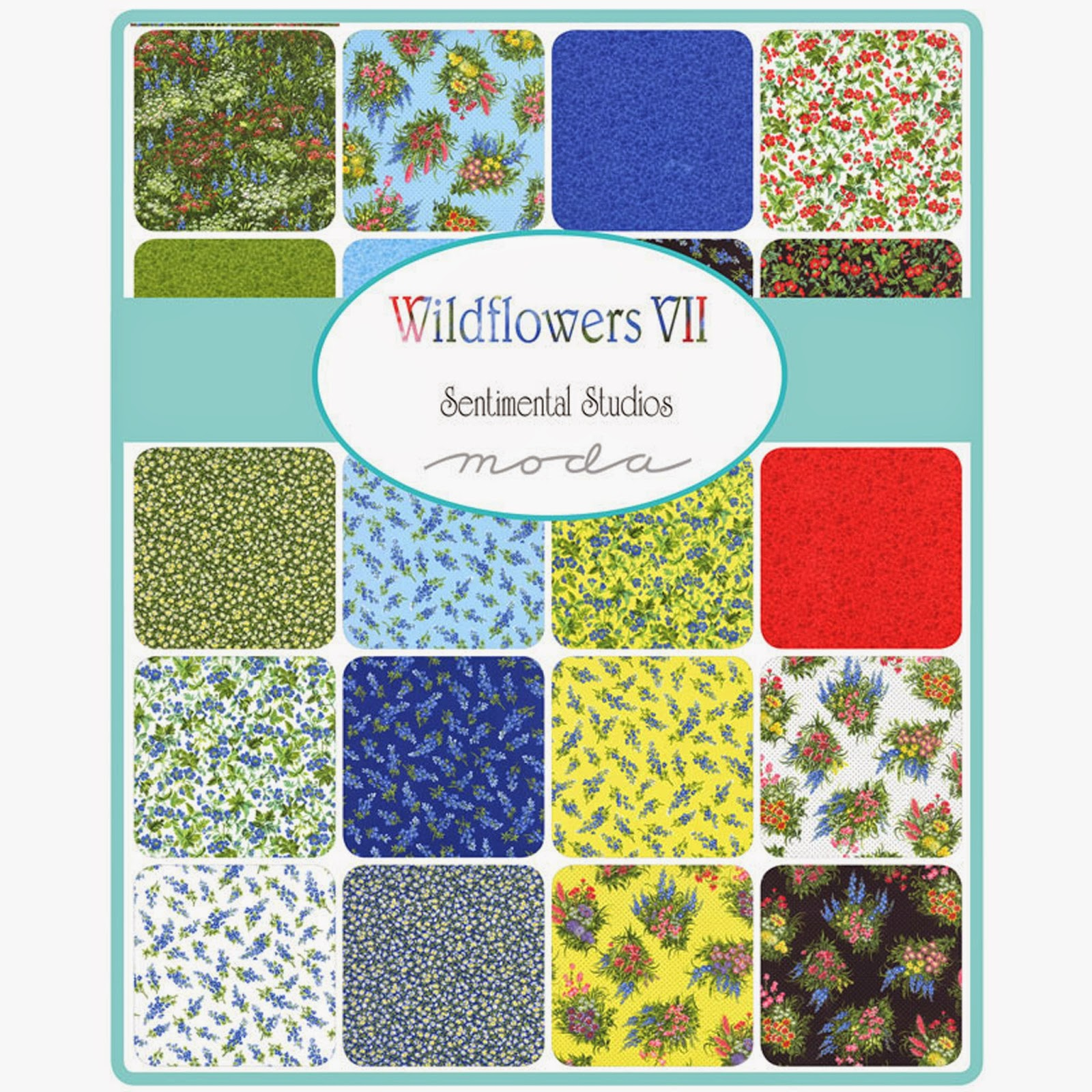 Moda WILDFLOWERS VII Fabric by Sentimental Studios for Moda Fabrics