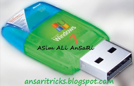 Create Bootable Windows Seven 7 USB For ISO