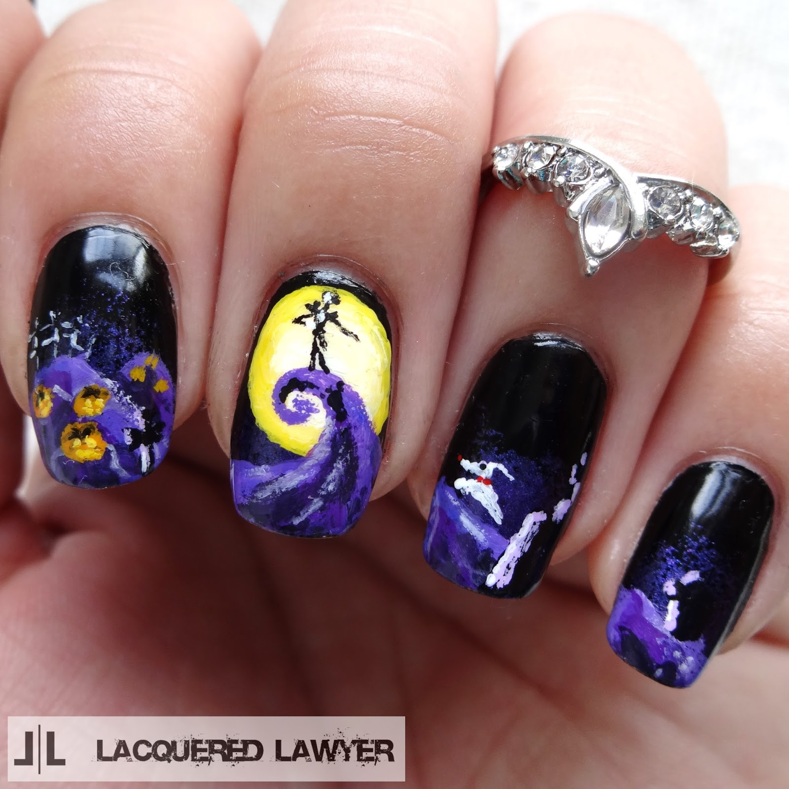 The Nightmare Before Christmas Nail Art