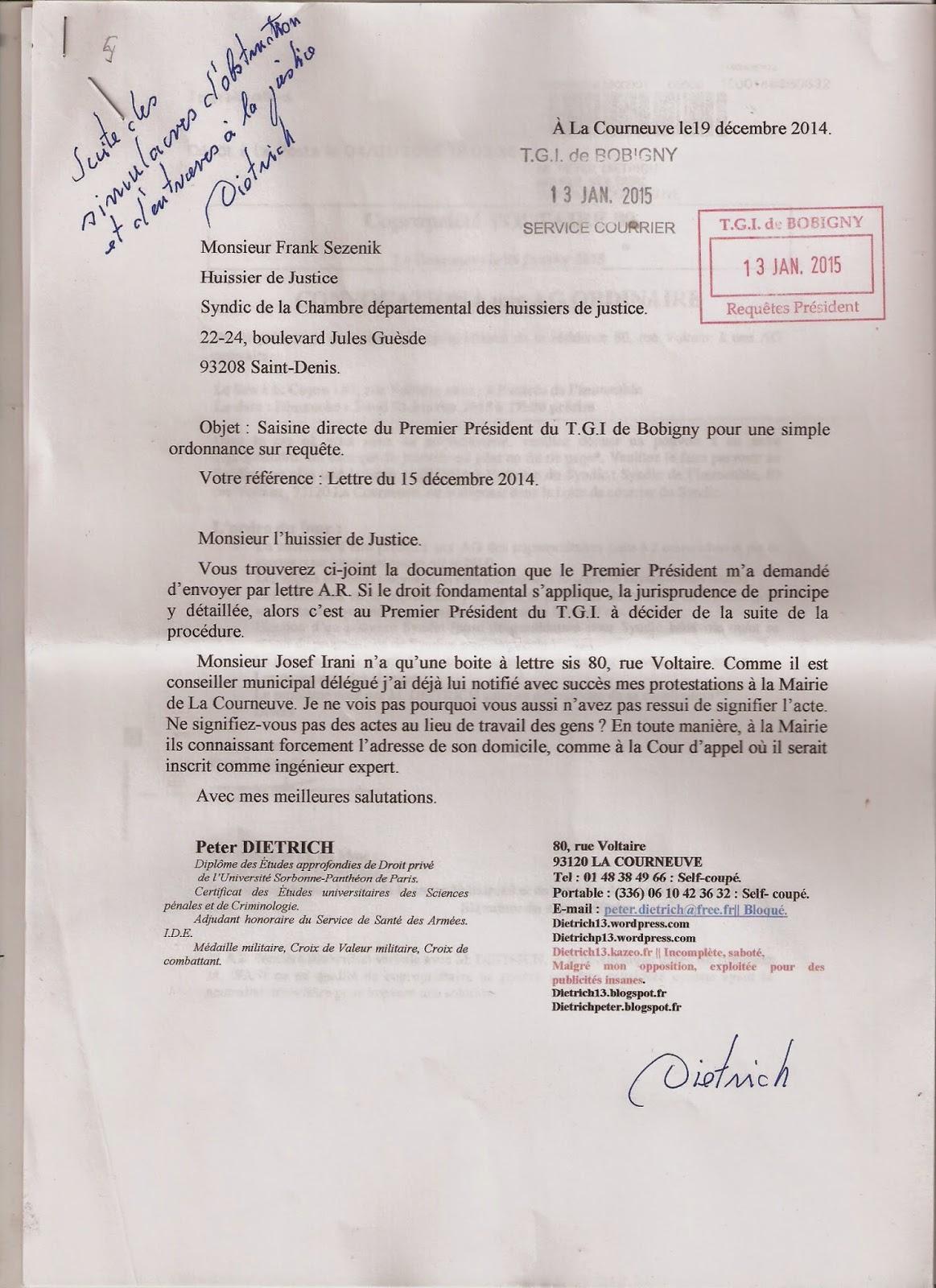 Complot politique escroqueries justice notaires for Chambre 13 tribunal bobigny