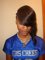 Straight Hair Sew in with Side Bangs
