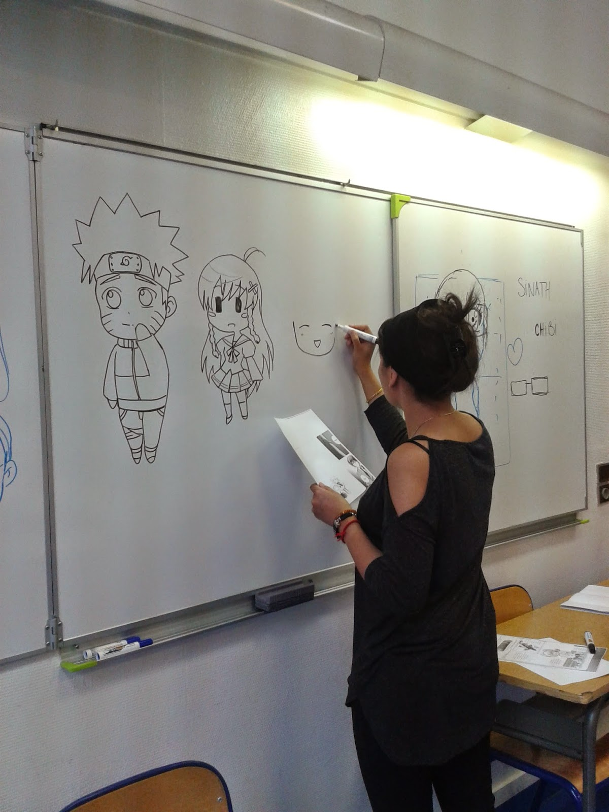 dessin manga ecole