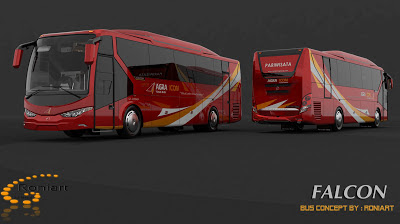 Design bus 3D Falcon PO Agra Mas Livery
