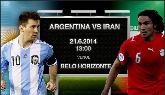 Prediksi Skor Argentina vs Iran Piala Dunia 21 Juni 2014