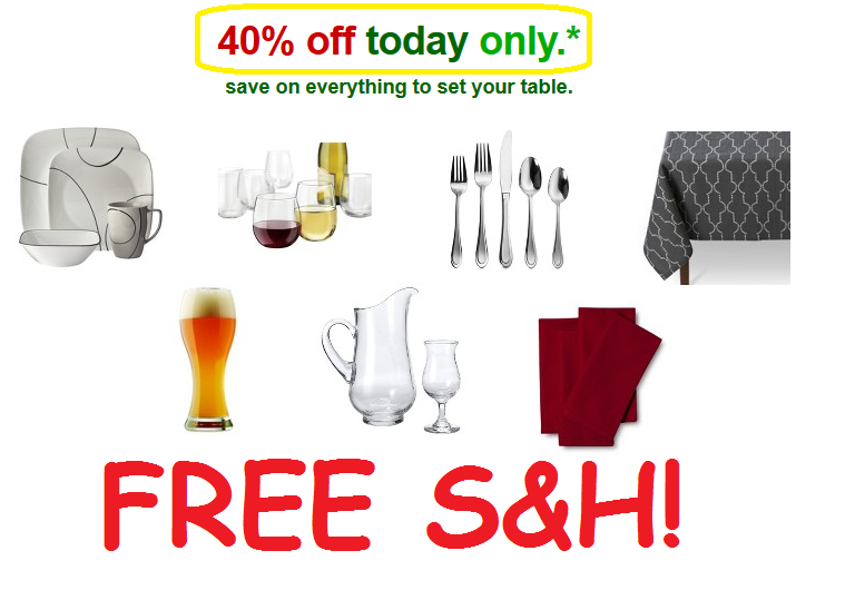 Get 40% Off Dining Deals + FREE S&H at Target - TODAY ONLY!