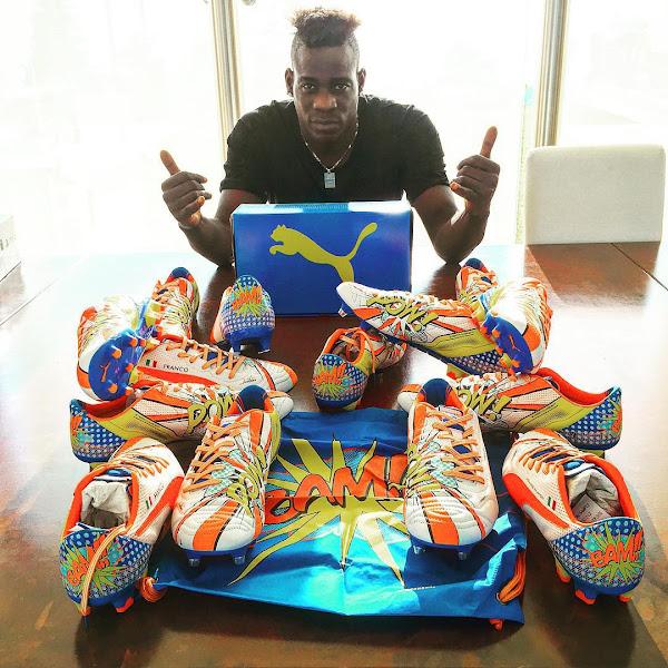 Los nuevos botines Puma de Balotelli con dibujos de caricaturas