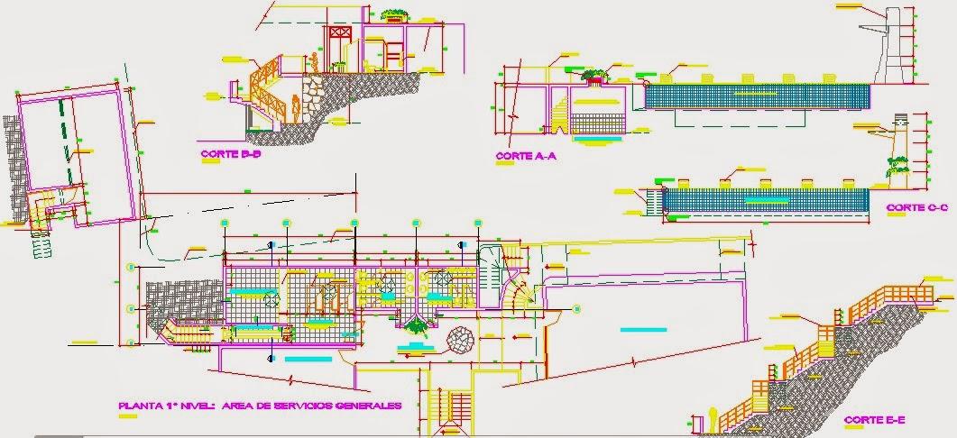 Descargar planos en autocad dwg plano piscina for Plano alberca