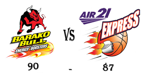 Barako Bulls win against Air21 in the 38th season of PBA Elimination round