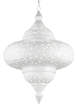 white modern lanterns