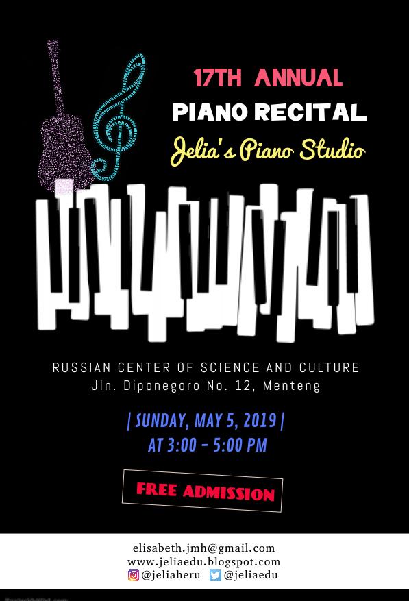 Piano Recital @ RCSC (2019)