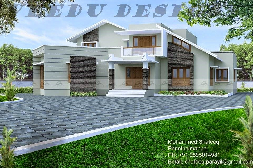 Kerala home design veedu design by mohammed shafeeq for Kerala veedu design
