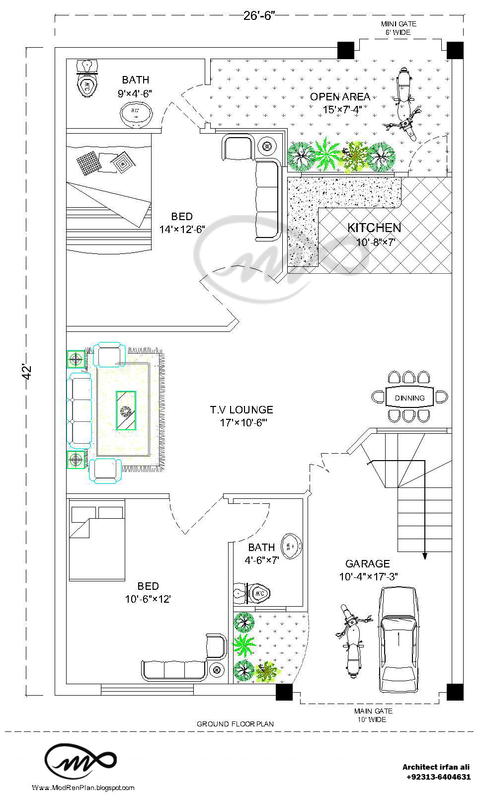 x   Square Feet     Marla House Plan And Map