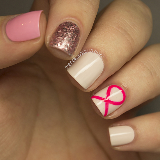 Nail Art for Breast Cancer Awareness Month