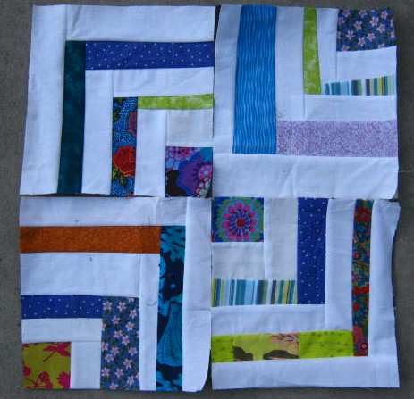 Love Laugh Quilt Half Log Cabin Free Style
