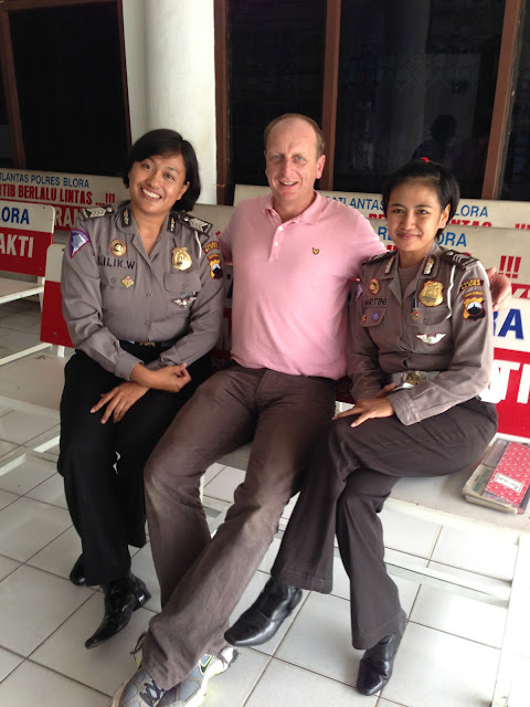 Locked up with the Indonesian police!