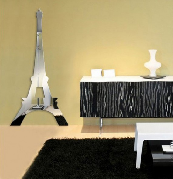Fashion design eiffel tower wall art decor paris room d cor - Decoration chambre theme paris ...