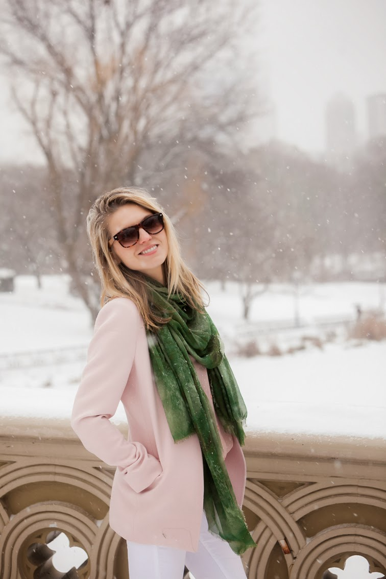 Central Park NYC winter whites snowflakes pastels Solo Eyewear Bindya