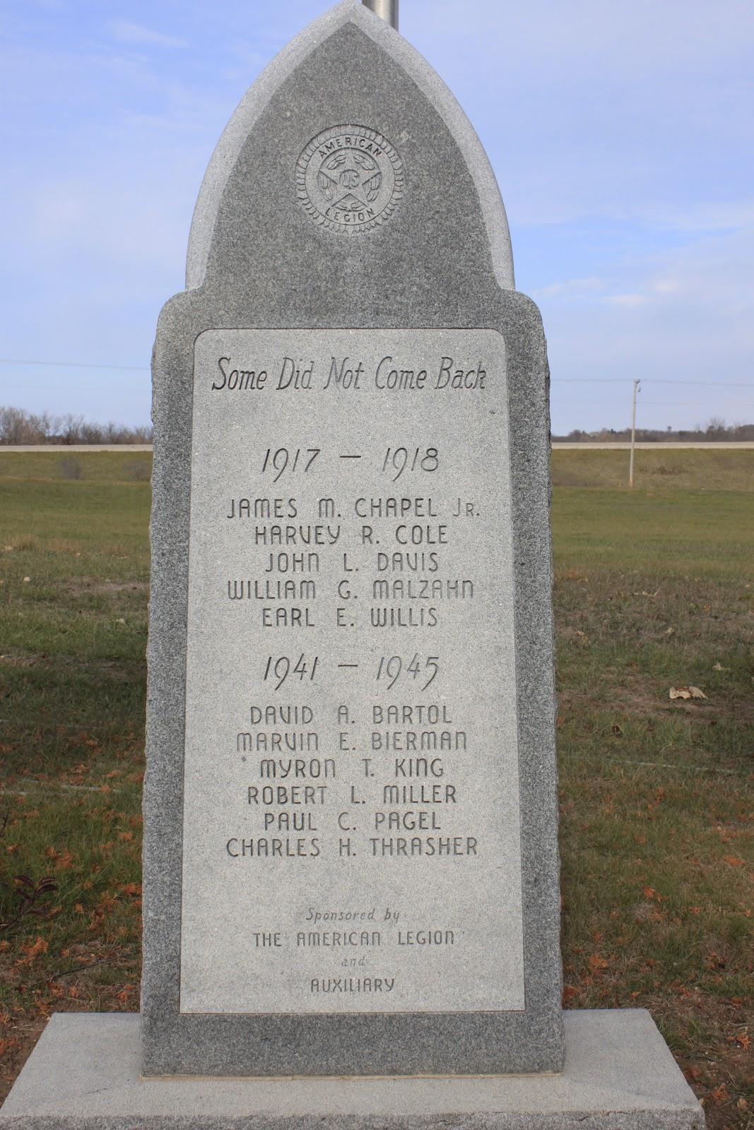 Wisconsin Historical Markers Green Lake Veterans Memorial