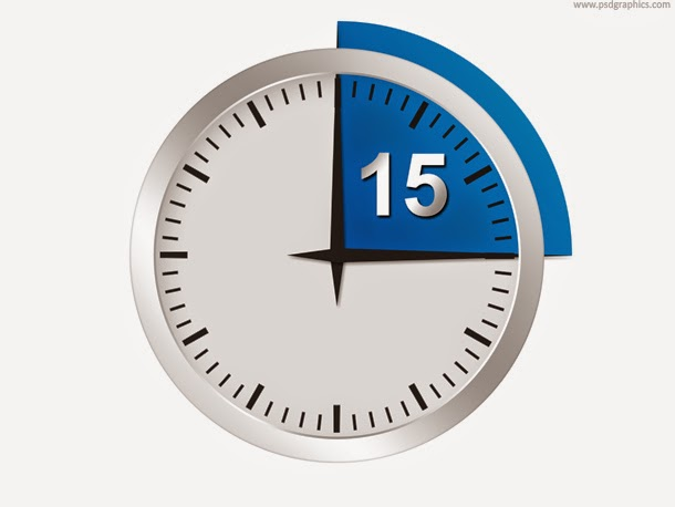 Minutes or Seconds Timer PSD