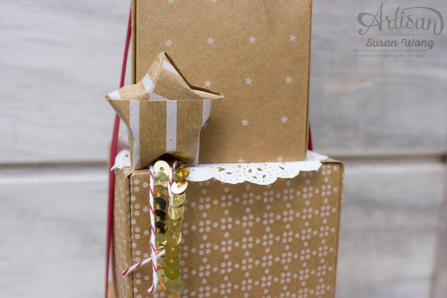 Kraft Roll Wrapping Paper 'Lucky Star' ~ Susan Wong