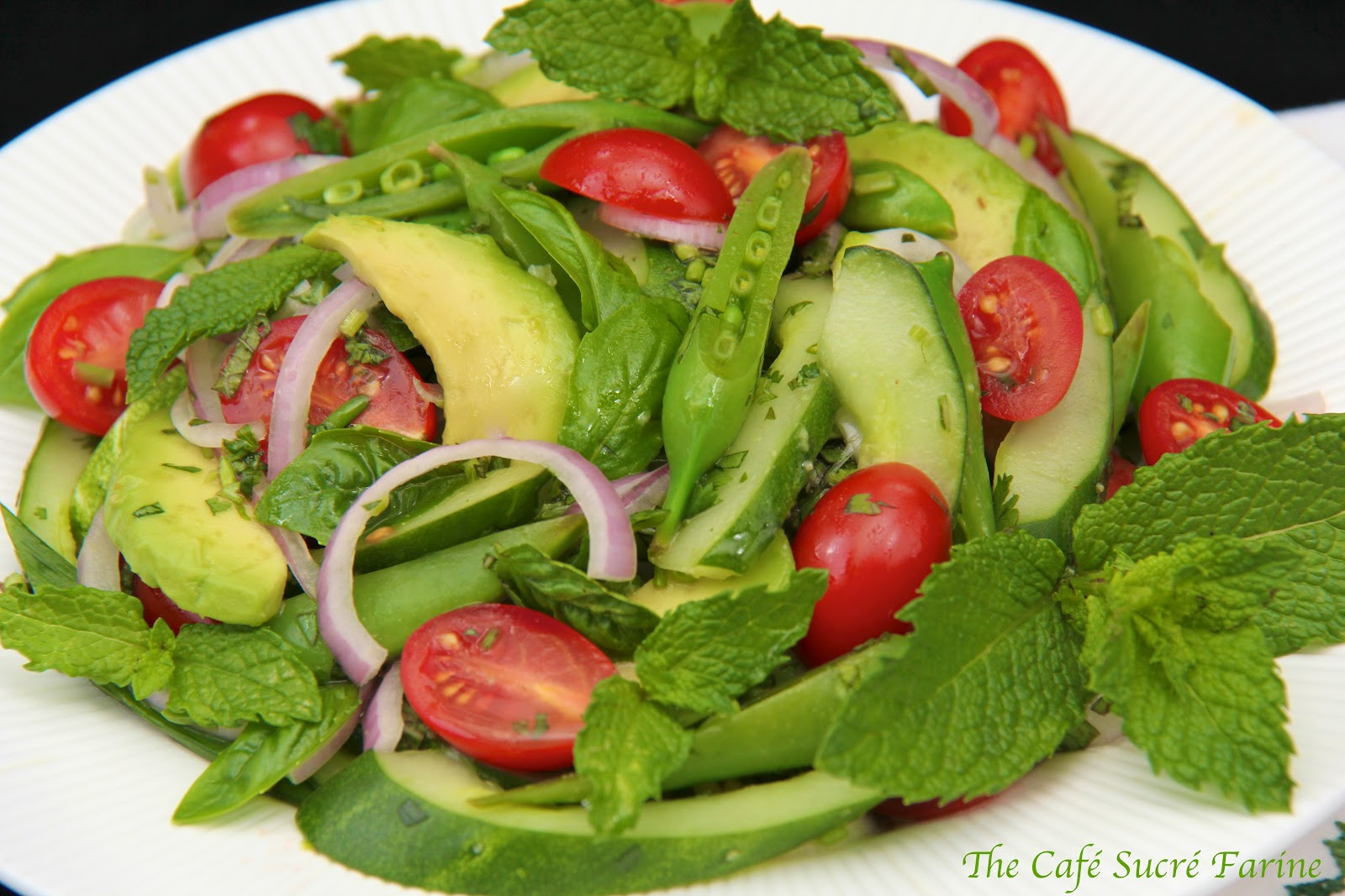 Thai Cucumber & Avocado Salad | The Café Sucre Farine