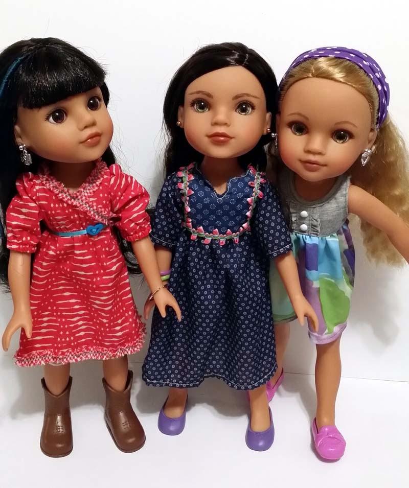 Mosi, Shola, Lauryce hearts4hearts dolls