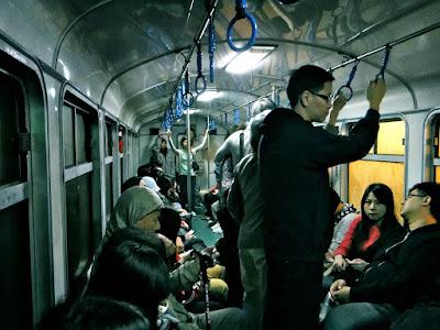 Inside Alishan Train Taiwan