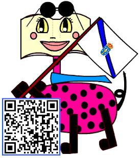 Penquiñas amosa o código QR do blog.