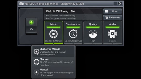 how to record with nvidia shadow play